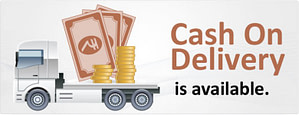 Cash on delivery is available
