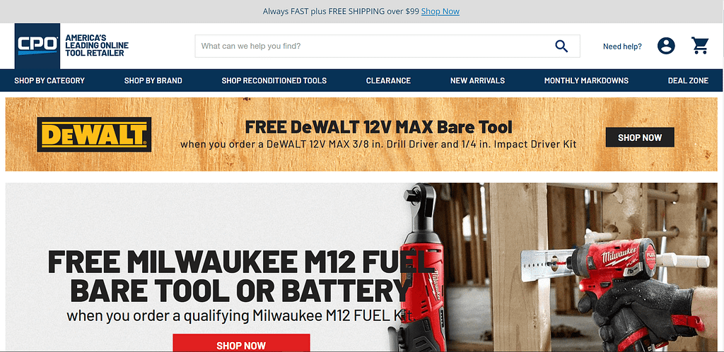Best Place to Buy Power Tools - CPO