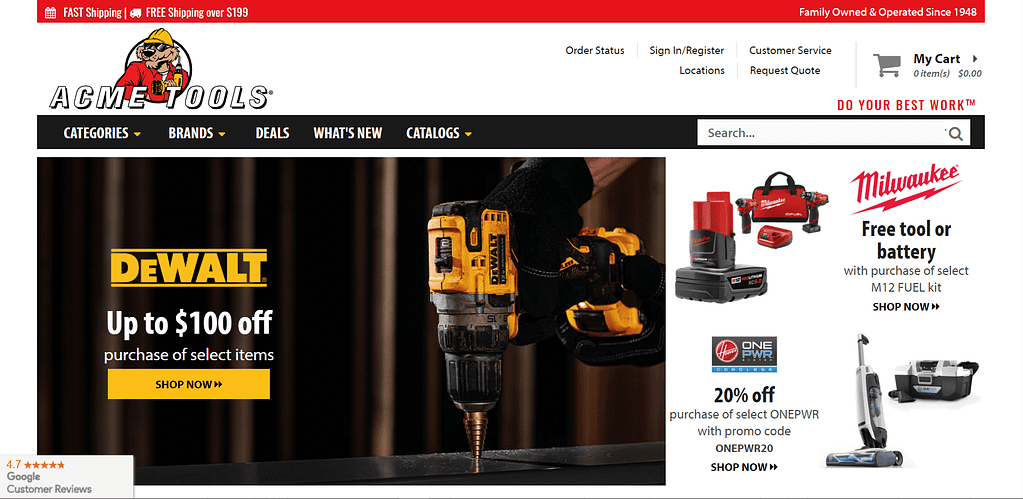 Best Place to Buy Power Tools - Acme Tools
